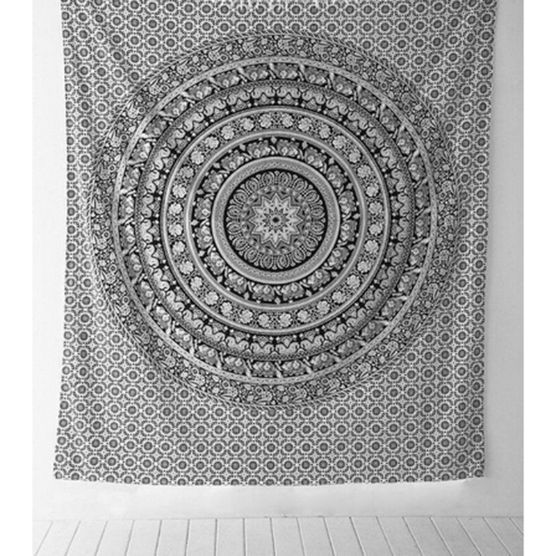 210 148cm Table Cloths Indian Tapestry Black White