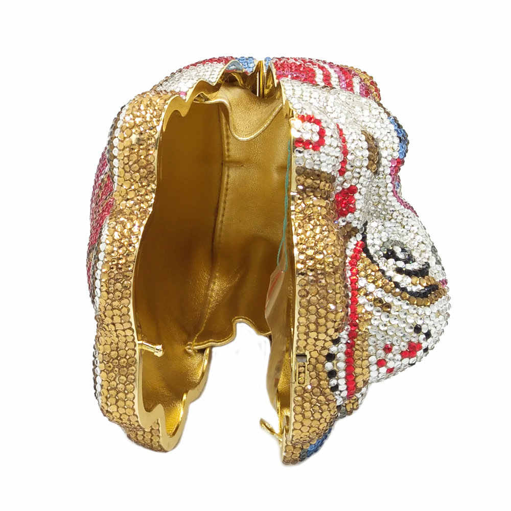 Бутик De FGG тайский буддийский слон Женская вечерняя сумка-клатч со стразами сумка для свадебной вечеринки Minaudiere Сумочка Кошелек металлические клатчи