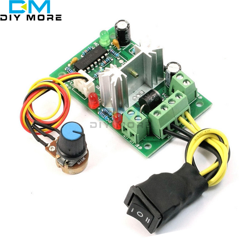 10-36V DC Motor Speed Controller Reversible PWM Control Forward / Reverse Switch wireless remote control dc motor speed controller 220v dc motor speed control motor speed switch power surge plates