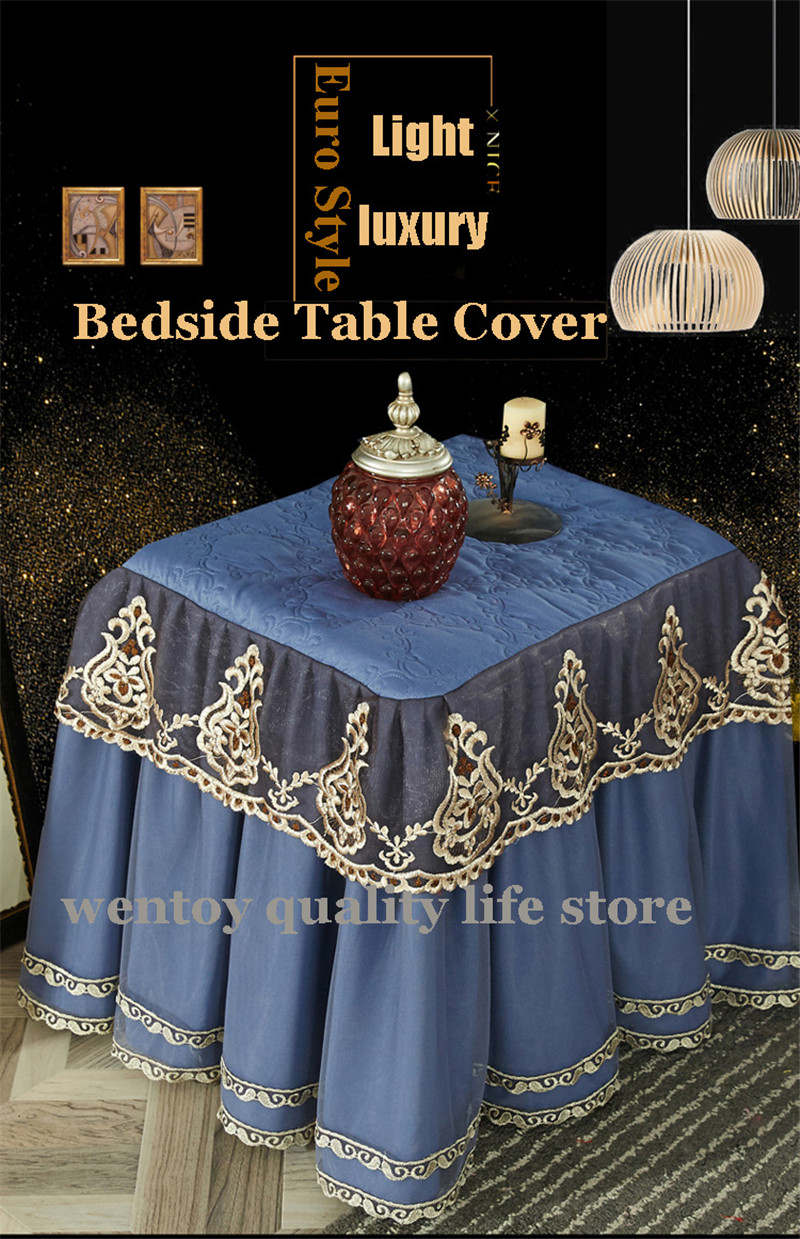 Euro Style 50x60cm Lace Table Cloth All Inclusive Thickend Table Cover Hot Sale Bedside Decorative Table Dust Cover Multi Color Table Skirts Aliexpress