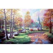 Yikee Алмазная картина домик в лесу полная алмазная живопись