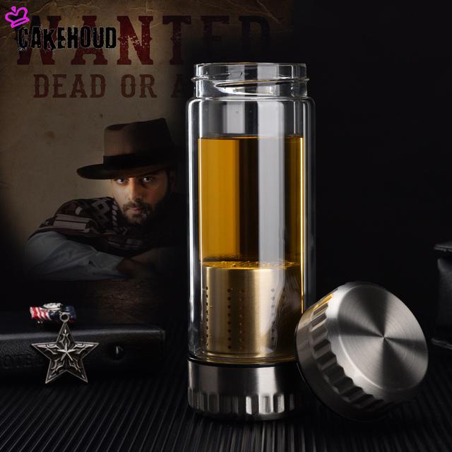 Business Tea Infuser Glass Bottle