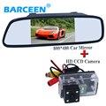 """Coche Universal espejo con pantalla de 5 """"de pantalla con 4 led de visión trasera cámara de marcha atrás para Peugeot 206/207/407/307 (Sedan)/307SM"""