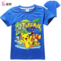 2-10T Baby Boy Pokemon Go T shrit Kids 100% Cotton T-shirts Short sleeve Children Boys Tops Sports Tee Shirts Summer Clothing