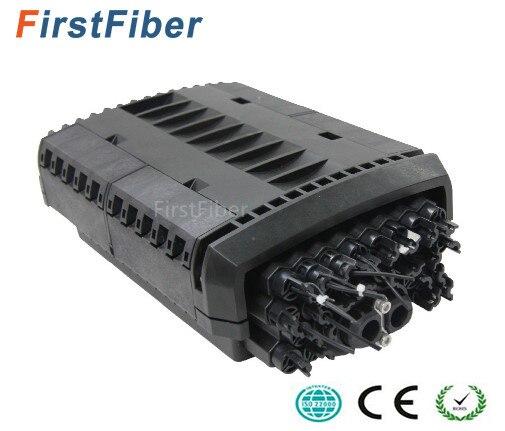 Câble de largage Fermeture 24 core 2 port câble ftth Type fibre Optique Splice & Splitter Fermeture IP68 Étanche fibre boîte de Jonction