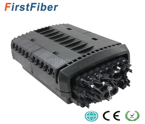 Drop Cable Closure 24 Core 2 Port FTTH Drop Cable Type Fiber Optic Splice & Splitter Closure IP68 Waterproof Fiber  Joint Box