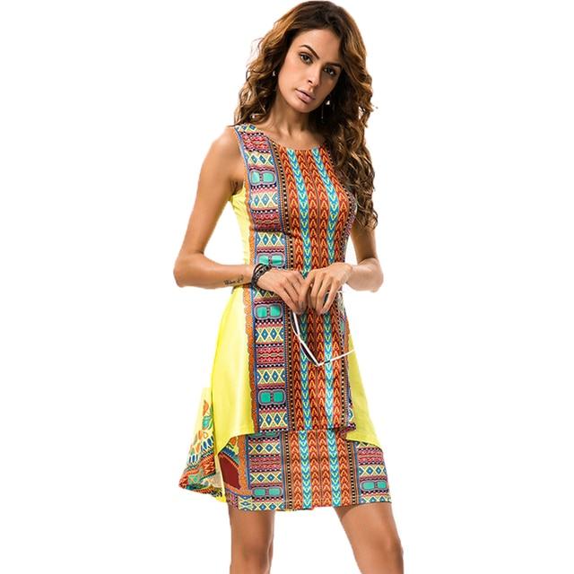 Bohemia mujeres vestido verano estilo primavera moda sexy