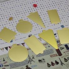100pcs / lot Golden cardboard paper pad Cake shim diy non-stick baking supplies Mousse cake bottom care