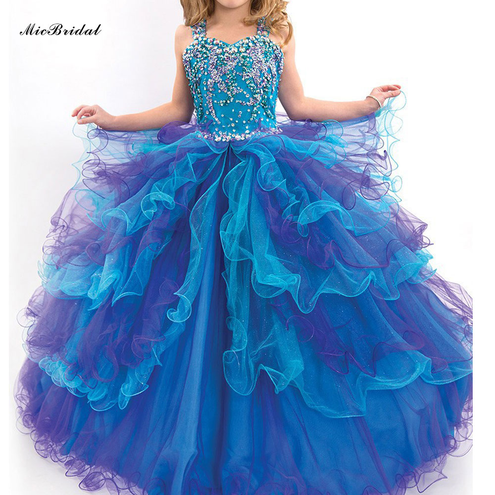 Ultimate Puffy Pageant Dresses For Little Girls Flower -6777