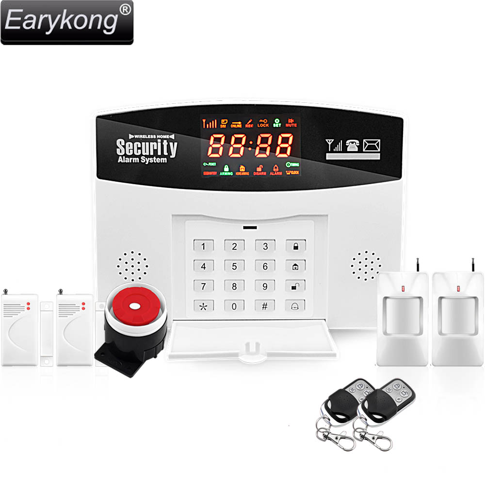 2017 Hot Selling Free Shipping 433MHz Wireless GSM Alarm System With Door Sensor and PIR Sensor Alarm For Your Home Security hot selling free shipping wholesale wireless gsm alarm system 433mhz home burglar security alarm system
