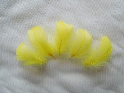 Горячая распродажа! 100 шт./партия, 4-6 см, маленькие окрашенные цвета, гусиные перья для изготовления шляп и аксессуары для волос, изготовление ювелирных изделий, 13 цветов - Цвет: yellow