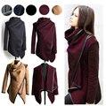 Hzoioys Outono e Casaco de Inverno Mulheres Long Cashmere Casacos Mulher Trench Coats Lã Fur Manteau Abrigos Mujer Plus Size