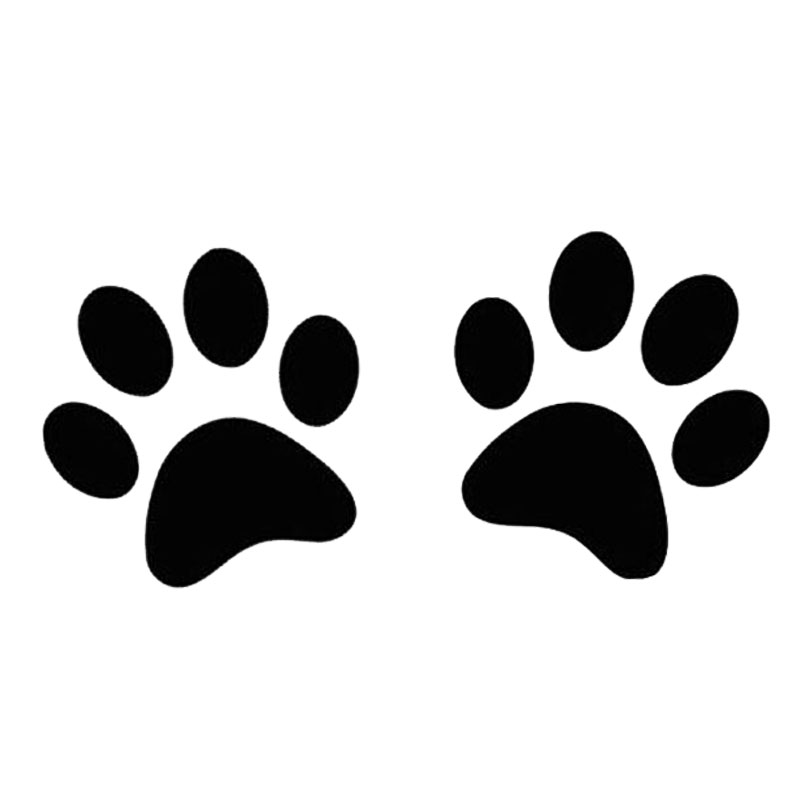 18.1cm*8.8cm Car Stickers Dog Paws Fashion Personality Stickers Accessories C5-0026