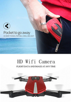 JD 18 Mini Drone folding rc quadcopter with 2/3 million camera WIFI mobile phone control fixed height aerial drone drop shipping