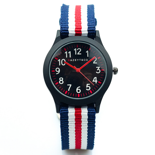 2018 cute mix red mix pink nylon strap girls gift watch boys child outdoor sport