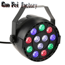 Led Flat/slim Par Led Stage Light RGB LED Par party Light disco With DMX512 Par Led 3w DJ light Equipments