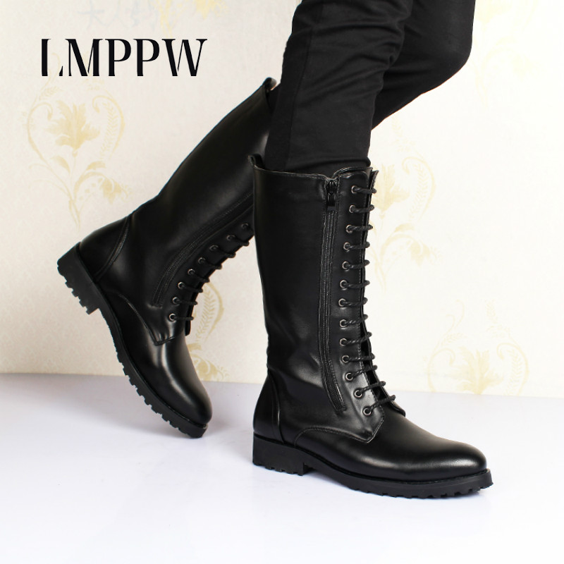Luxury Brand Men Boots Autumn Winter Plush Warm Cotton Boots Top Quality Men Motorcycle Boots Mid Calf Soft Leather Boots Shoes цена