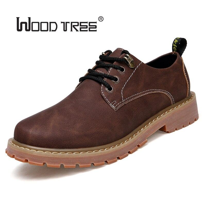 Woodtree Stivali Da Uomo 2018 Nuova Moda In Pelle Scamosciata scarpe da Uomo scarpe Casual oxfords per la Primavera Estate Inverno Sneakers Dropshipping - 2