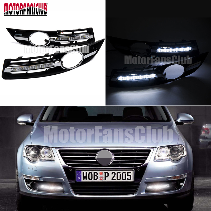 LED Driving Lamp Daytime Running Light DRL For For VW Passat B6 2006 2007 2008 2009 2010 for vw passat b6 2006 2007 2008 2009 2010 2011 pair or left or right led lights drl daytime running lights