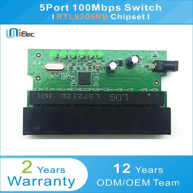 RTL8305NB 5 Puerto red Ethernet no gestionados interruptor PCBA OEM ...