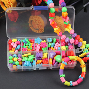 200 قطعة الخرز لعب للأطفال DIY يدوية الصنع القلائد أساور فتاة الاطفال طفل مطرز الألغاز لعبة تعليمية الشحن مجانا