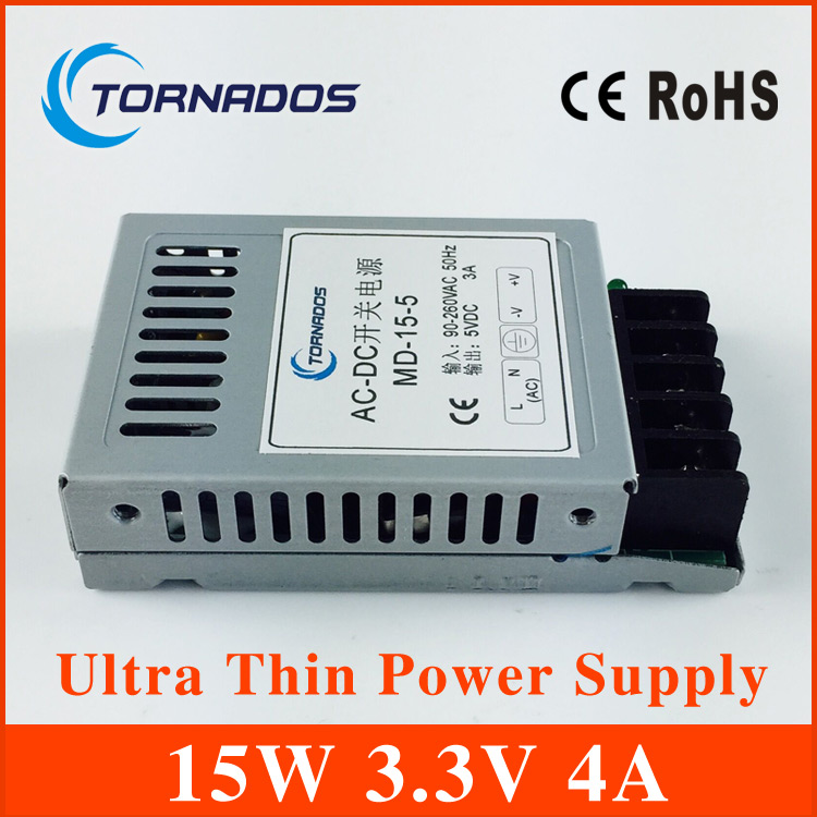 15W 3.3V Ultra thin Single DC Output Switching power supply for LED Strip light power source MD-15-3.3 20w 24v 1a ultra thin single dc output switching power supply for led strip light smps