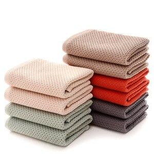 Image 2 - 1 adet pamuk süper yumuşak petek havlu düz renk süper emici taşınabilir saç yüz havlusu seyahat banyo havlusu ev için otel