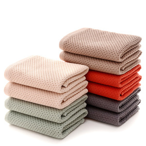 Image 2 - 1pc cotton super soft Honeycomb Towel Solid Color Super Absorbent Portable hair Face Towels Travel Bathroom Towel For Home Hotel