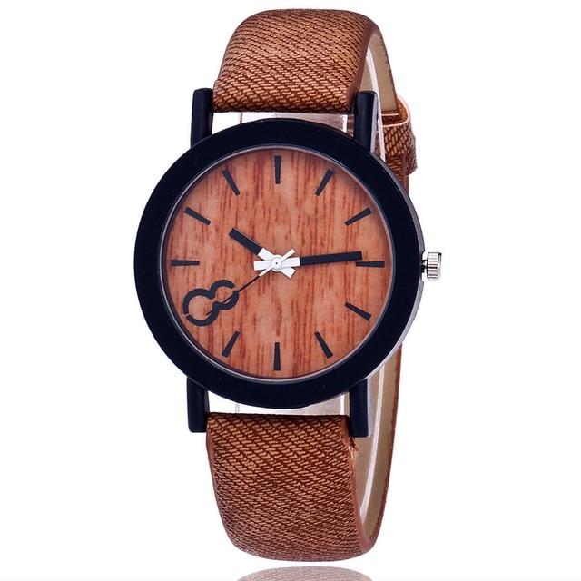 Handcrafted Bamboo Wooden Ladies Quartz Wristwatch 3