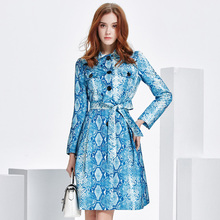 2017 new spring snake coat dress high-end luxury coat thin coat female temperament