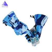 VECTOR Ski Gloves Men Women Warm Windproof Waterproof Touch Screen Snow Gloves Snowmobile Riding Gloves Snowboard