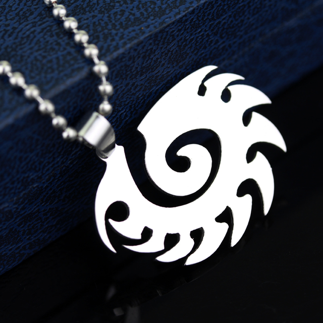 Starcraft 2 II Zerg silver Necklace Pendant Free With Chain Titanium Steel Jewelry 5