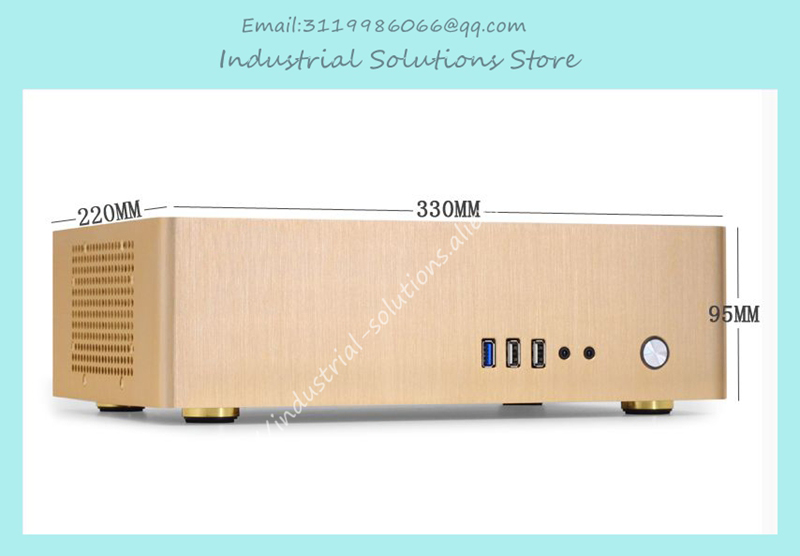 NEW small horizontal MINI ITX HTPC chassis include power supply Aluminum computer case custom made all aluminum chassis car chassis htpc chassis pci expansion chassis exquisite small computer fixed i o mini itx chas