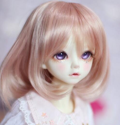 New 22-24cm Honey Brown Short hair /Wig For 1/3 BJD SD LUTS DD Doll Wig ...
