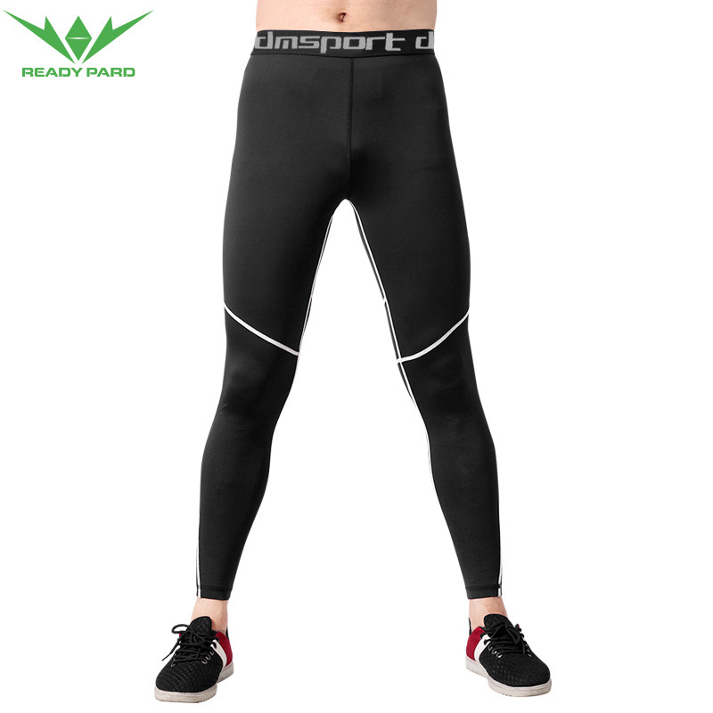 2018 New Plus Size Men Long Pants Sports Elastic Breathable Sportswear Fitness Exercise Gym Compression Tights Short Pants