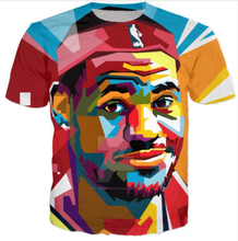 Sondirane Newest 3D Lebron James Print Casual T-Shirt Summer Short Sleeve Hip Hop Style Sweats Tops Comfortable Tees Clothing