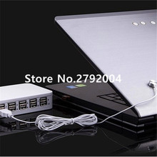 6 Ports Retail Mobile Anti theft Device Security Display Stand with Alarm for Cell Phone Tablet