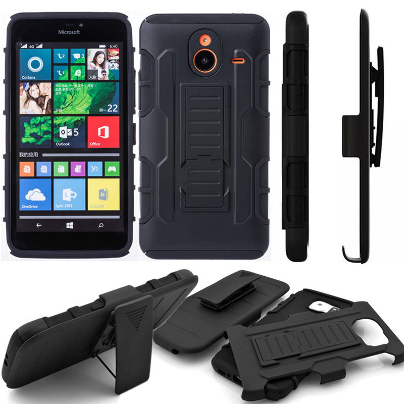 detailed look 30d81 b3eb1 US $7.98 |Lumia640 Case Future Armor Impact Extreme Case For Microsoft  Lumia 640 Stand Cover Belt Clip Holster Nokia Lumia N640 Case-in Fitted  Cases ...
