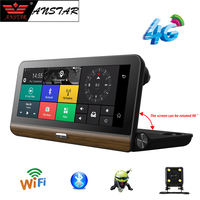 ANSTAR FHD 1080 P 4 г Видеорегистраторы для автомобилей Камера 7,86 gps навигации Android Регистраторы регистратор Bluetooth WI FI заднего вида Двойной объектив