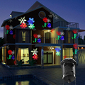 Рождество Хэллоуин Лазерный Проектор свет Этапа СИД Водонепроницаемый 10 Сменные Узоры Праздник Пейзаж Украшения огни