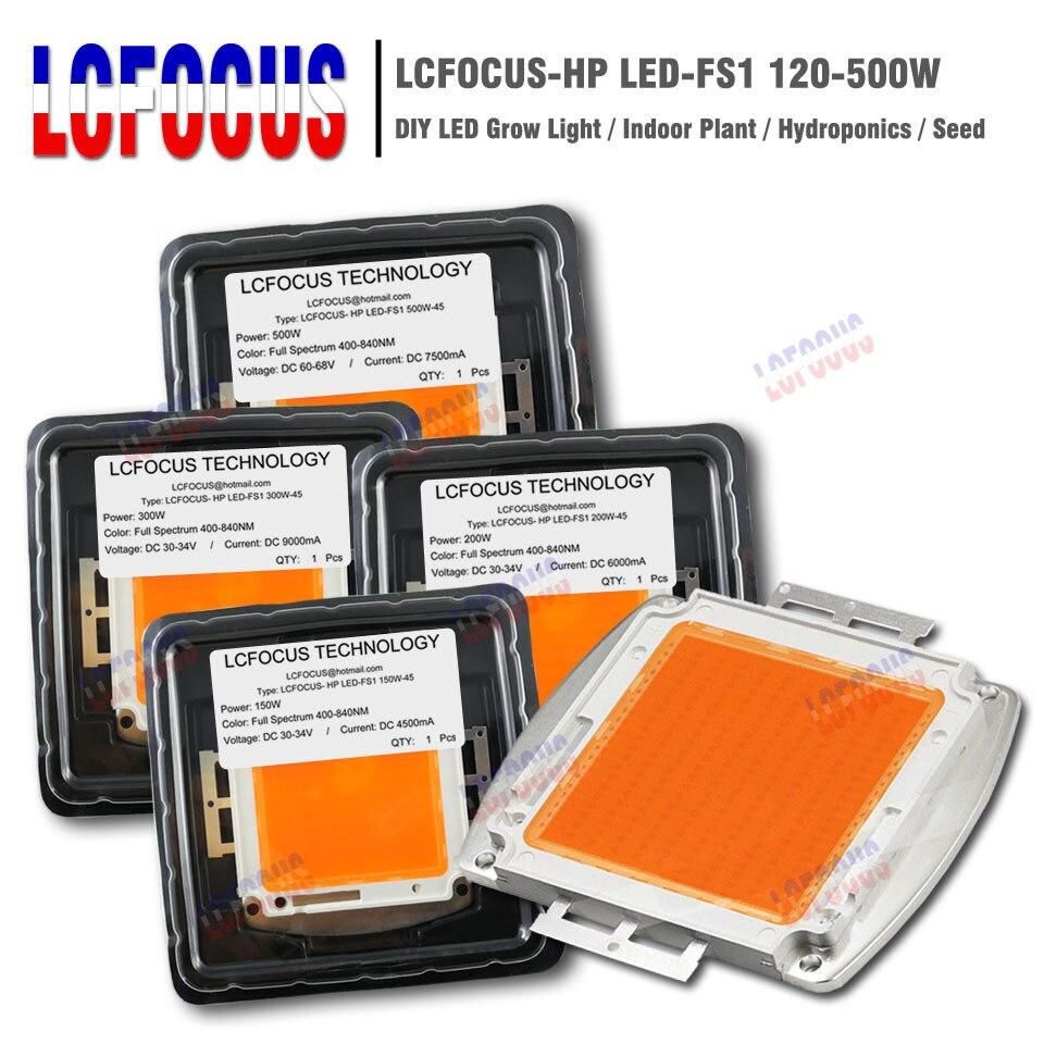 Hydroponics 120W 150W 200W 300W 400W 500W Grow LED Full Spectrum 400-840NM For DIY 120 150 200 300 400 500 W Watt LED Grow Light