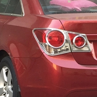 For Chevrolet Cruze Sedan 2009 2014 Exterior Decoration Accessories Car Styling Chrome Rear Light Tail lamp Cover Trim Molding