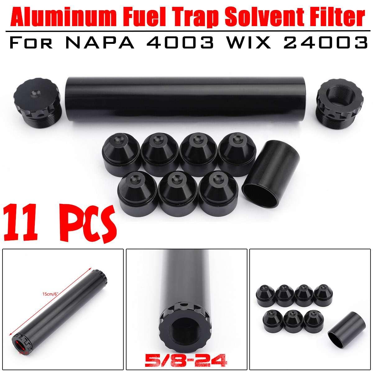 11 Pcs In Alluminio Nero 5/8-24 Carburante Trappola Solvente Filtro Per NAPA 4003 WIX 24003 Auto Filtri 1x6 (OD: 1.050