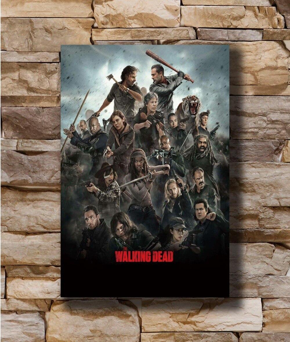 N1873 The Walking Dead All Here TV Series Custom 8x12 20x30 24x36 Silk Poster Art L-W Canvas Print Decoration