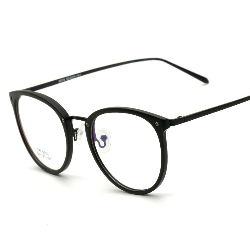 fd82de8f552b25 Mode TR90 De Haute Qualité Anti Bleu Lumière Mâle Effacer Lunettes Oculos  Cadre Femelle Unisexe Ronde