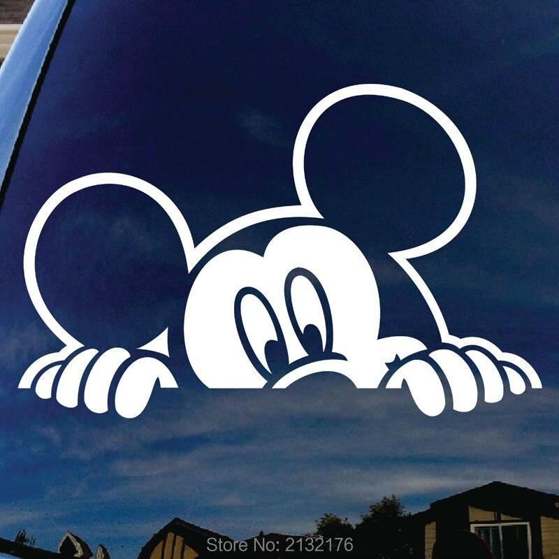 Mickey Mouse Peeking Car Window Vinyl Decal Sticker 5