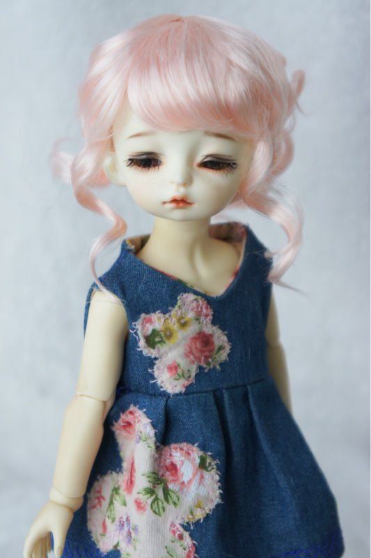купить JD261 1/6 YOSD synthetic mohair doll wigs  Updo style BJD hair 6-7inch BJD wigs дешево
