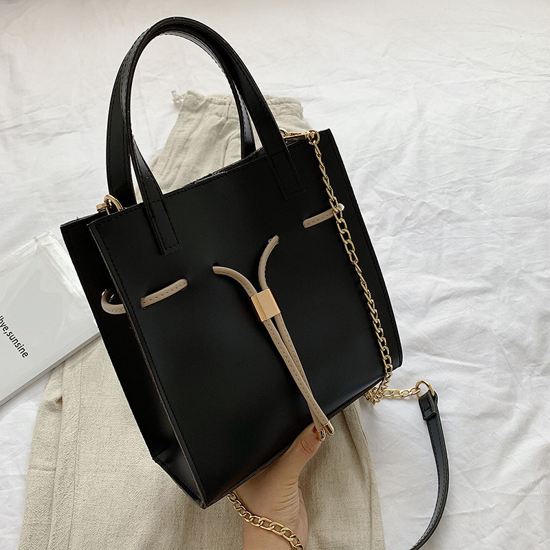Pure Color Tide Korean Version of The Three dimensional Bag Wild Chain Messenger Bag Female Fashion Simple Shoulder Bag 2019 New in Top Handle Bags from Luggage Bags