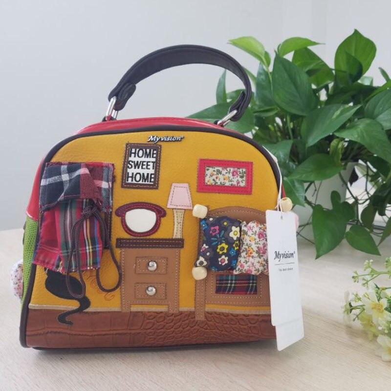 2017 Cat Home Sweet Women Bag Italy Handbag Retro Handmade Bolsa Feminina Candy Bolsos Famous Designer