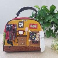 2017 New Cat Home Bag Women Bags Italy Handbag Retro Handmade Bolsa Feminina Candy Bolsos Famous